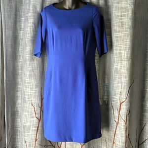 Tahari ASL Royal Blue Sheath Career Dress Pockets